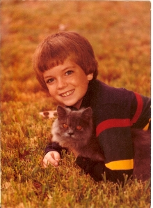 Persian cat Pfeffa was my early stand-in for Oscar