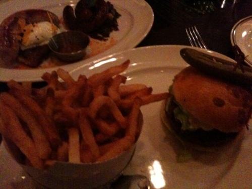 DBGB's Piggie Burger, behind the Vermont and Merguez
